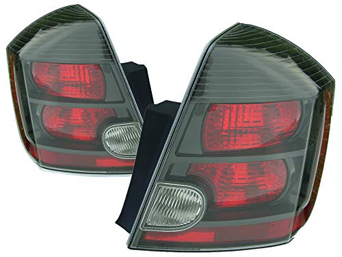 For 2007 2008 2009 Nissan Sentra Se-R/Se-R Spec V Rear Tail Light Taillamp Assembly Driver Left and Passenger Right Side Pair Set Replacement NI2800178 NI2801178