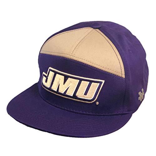(James Madison University Foundation JMU Dukes Snapback 7 Panel Baseball Cap Hat Purple)