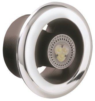 Manrose Showerfan Ventilateur Du0027extraction Du0027air Lumière LED Kit U2013 Loft Kit  Monté