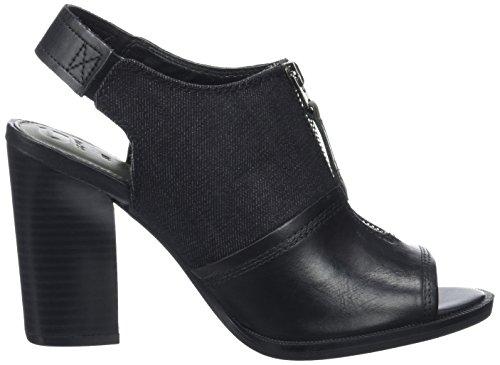 G Star Lynn Sandal, Sandalias con Cuña para Mujer Negro (Black 990)