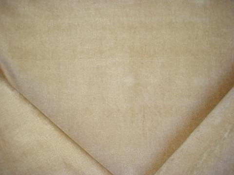 Golding Fabrics Sarah in Almond - Buttery Shimmering Solid Chenille Designer Upholstery Drapery Fabric - By the - Buttery Almond