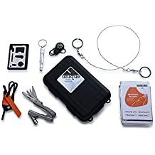 Emergency Outdoor Survival Gear Kit - for Hiking, Camping, Travel, and Emergency Preparedness, 7-in-1 EDC Bug Out Bag Includes Emergency Blanket, Firestarter, Compass and Whistle