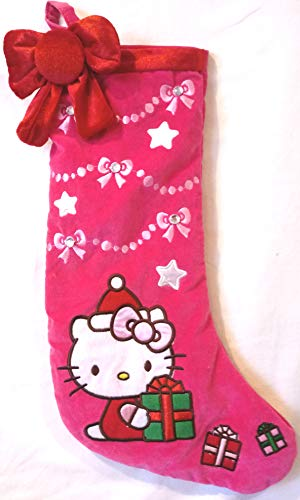 Hello Kitty Christmas Stocking, Hello Kitty Velvet Holiday Stocking 17-1/2