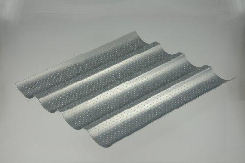 Profi-Forma - Baguette-Backform 4 Mulden 32 x 38 cm - Silver-Top-Antihaft-Beschichtg.