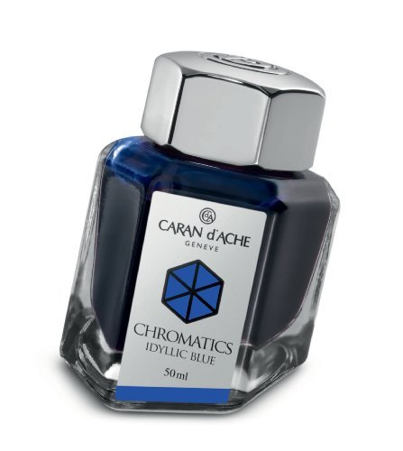 Caran d'Ache 50ml Chromatics Ink Bottle - Iddyllic Blue