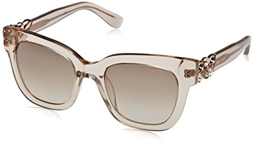 Jimmy Choo Women's Maggie/S Transparent Dove Gray/Brown Gradient - Sunglasses Jimmy Crystal Choo