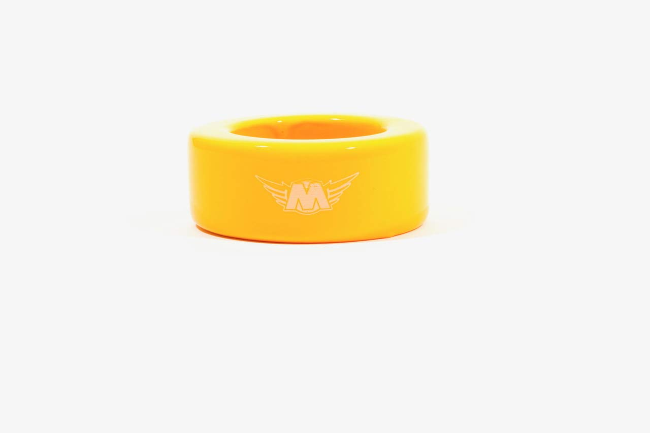 M^POWERED BASEBALL Bat Weight, Training Aid for Warm-Up, Strength & Speed, Yellow, 20 oz by M^POWERED BASEBALL