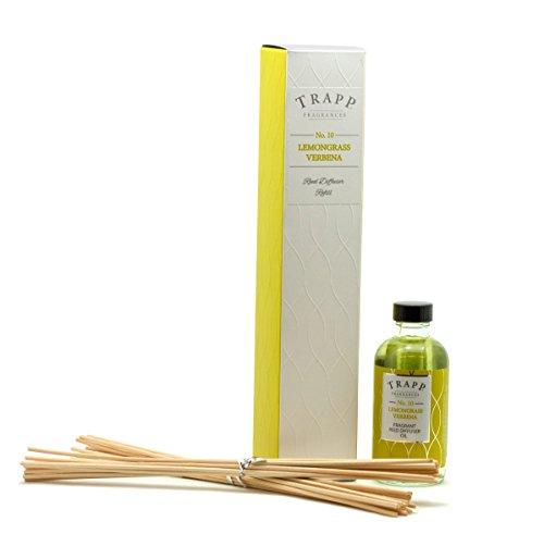 Trapp Candles Reed Diffuser Refill Kit, No. 10 Lemongrass Verbena, 4-Ounce