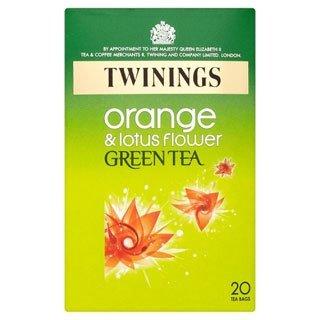 Twinings Orange And Lotus Flower Green Tea Bag Pack Of 20 40 G