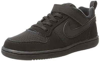 Nike Australia Boys Court Borough Low (PSV) Fashion Shoes, Black/Black, 1.5 US