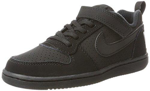 Nike Court Borough Low (PSV), Zapatillas de Baloncesto Para Niños Negro (Black/Black 001)