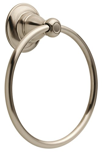 Delta PTR46-BN Porter Bath Hardware Accessory Towel Ring, SpotShield Brushed Nickel by DELTA FAUCET