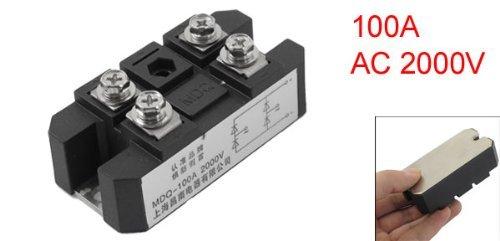 eDealMax AC 2000V 100A 4 terminales del circuito rectificador módulo de Transistor semiconductor Negro