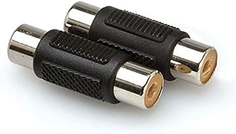 color negro 3.5 mm, adaptador, est/éreo, dual, macho//hembra Adaptador RCA mini jack TSR Hosa GRM193