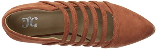 Brinley Co Womens Odessa Loafer Flat Rust