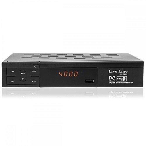 Live Line HD 1001 PLUS HDTV digitaler Satelliten-Receiver (HDTV, DVB-S2, HDMI, SCART, USB 2.0, Full HD 1080p, LED-Display) [vorprogrammiert] - schwarz