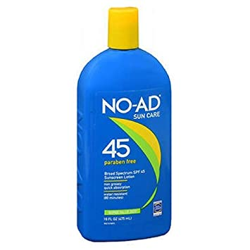 NO-AD Sunscreen Lotion SPF 45 16 oz Pack of 3