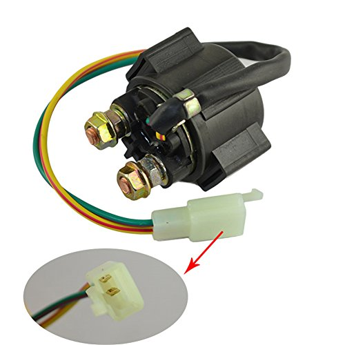 AHL Motorcycle Parts Starter Solenoid Relay for 4-Stroke GY6 Engine 50cc 150cc 200cc 250cc ATV Dirt Bikes Scooters Go Kart Dne Buggys Quad 4 Wheelers Pit Bike Moped Roketa SSR Taotao Sunl Coolster (200cc Gy6 Engine)