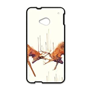 HTC One M7 Phone Case Black Stags Strong ESTY7805510