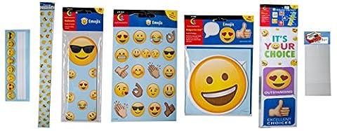 Emojis name plate, border, bookmarks, stickers, accents, behavior clip chart, poster mounts Creative Teaching Press classroom teacher decoration