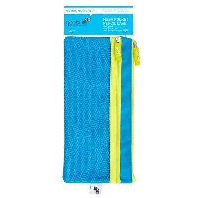 メッシュポケットペンケースブルー – yoobi153 ;ブルー B07DP8M5FY
