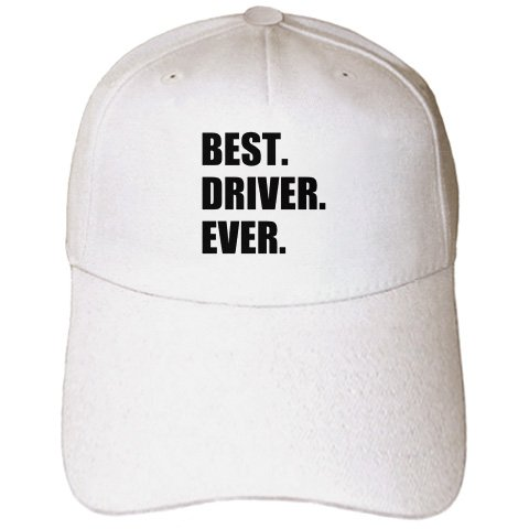 InspirationzStore Typography - Best Driver Ever - fun gift for good drivers - driving job gift - text - Caps - Adult Baseball Cap (cap_184994_1)