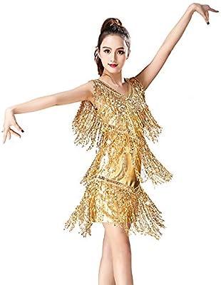 BALALALA Vestido Baile Latino,Vestido Baile Latino NiñA ...