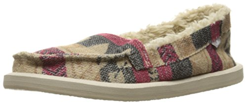 Sanuk Mujeres Shorty Tx Chill Flat Natural Multi Manta Rojo