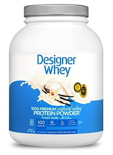DESIGNER WHEY 100% Premium Whey Protein Powder, Vanille française, 4 Pound Container