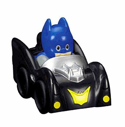 Fisher Price Little People Batman and Car from DC Super Friends Line (Fisher Price Batman Wheelies compare prices)