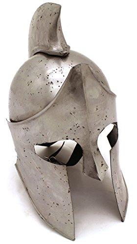 Medieval Warrior Brand 18G Steel Greek Spartan Helmet w/ Leather Liner ()