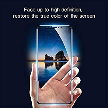Black Color : Black Tempered Glass Film XHC Screen Protector Film 25 PCS for Oppo A5 // A3s Anti-Glare Full Screen Tempered Glass Film
