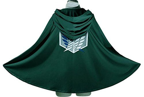 Anime Cosplay (Generic Japan Anime Shingeki No Kyojin Cloak Attack on Titan Cosplay Cloth Green)