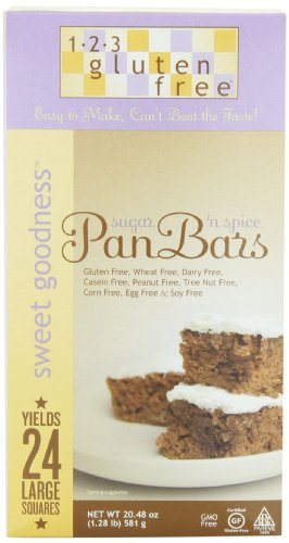 UPC 182566000011, 123 Gluten Free Sweet Goodness Pan Bars Mix, Sugar 'n Spice, 20.48-Ounce Boxes (Pack of 3)