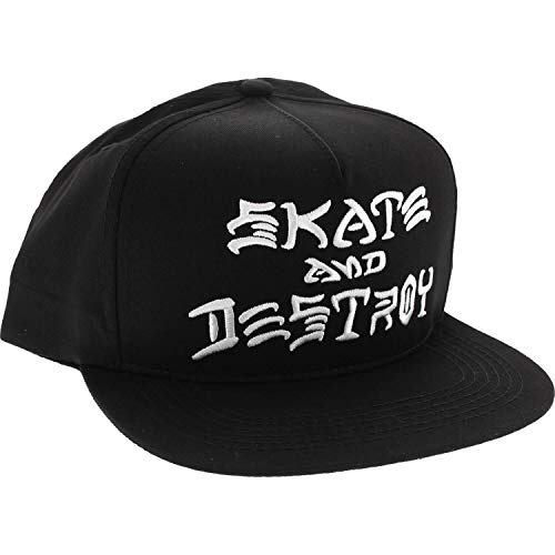 fe143289d41 Thrasher Magazine Skate and Destroy Black   White Snapback Hat - Adjustable