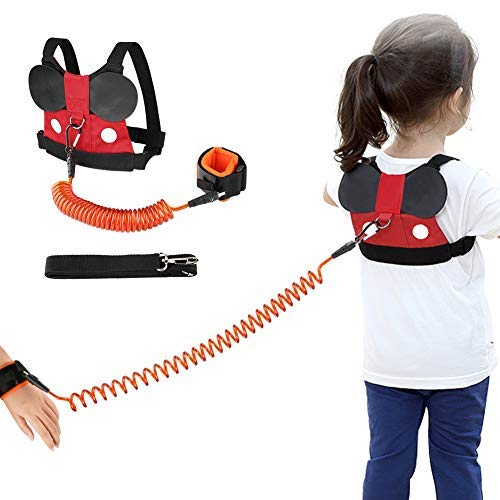 Accmor Baby Anti Lost Safety Harness + Anti Lost Wrist Link, Cute Kid Safety Harness Leash Child Kid Assistant Strap for 1-8 Years Boys and Girls to Disneyland, Zoo or Mall