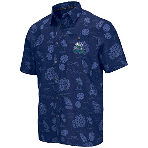 Colosseum Men's NCAA -Honolulu Camp-Hawaiian Short Sleeve Vacation Shirt-Notre Dame Fighting -