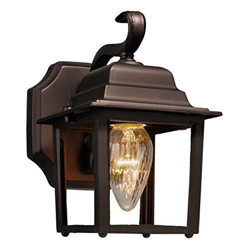 Brinks 7564D-113-1 Coach Light with Photocell Dusk to Dawn Bronze Light