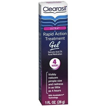 Clearasil Ultra Rapid Action Treatment Gel 1 oz (28 g) Action Rescue Gel Treatment