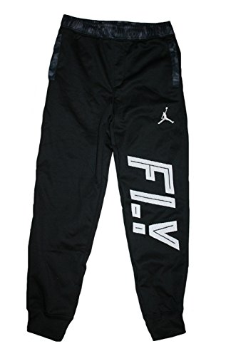 Jordan Big Boys' (8-20) AJ Camo Pieced Fleece Joggers-Black-Medium