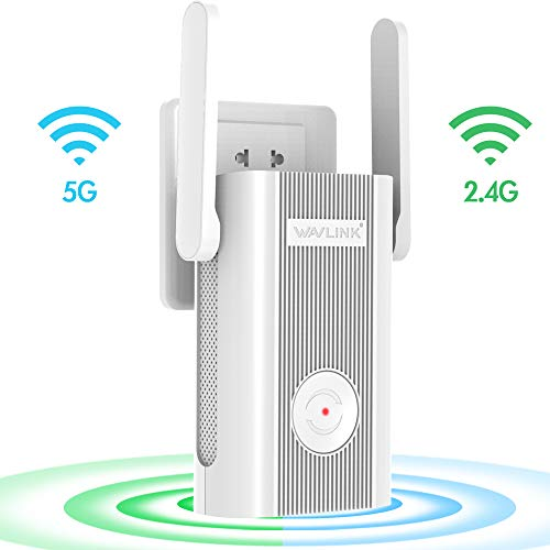 WiFi Extender,WiFi Range Extenders High Speed Signal Booster 1200Mbps 2.4 + 5Ghz Dual Band Wi-Fi Amplifier Repeater with WPS