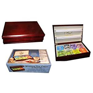 Bigelow Wooden Tea Chest Christmas Holiday Gift Box 64 Pack Assortment