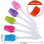 Patelai 8 Pieces Silicone Pastry Brush Food Grade Brushes Basting Brush for BBQ Baking Grilling Food Making, FDA Approved 10 Package content: 8 pieces of pastry brushes of 8 colors including red, orange, yellow, green, blue, rose red, pink and purple, 1 piece per color, sufficient quantity for home using Material: made of silicone of food grade which is FDA approved, safety guarantee which is non-toxic and healthy, you can rest assured to use it in food making Designation: as pictures shown, translucent holder and colorful brush head, give your kitchen a vibrant style, more interesting and funny, also convenient for distinction when using, frosted handle without slipping