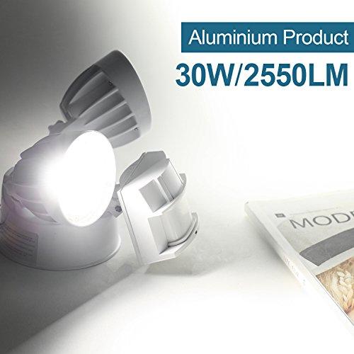 2 Pack 30W LED Security Light Motion Outdoor, Motion Sensor Light Outdoor, Dual-Head, 2500LM 5000K Waterproof IP65, ETL Flood Lights