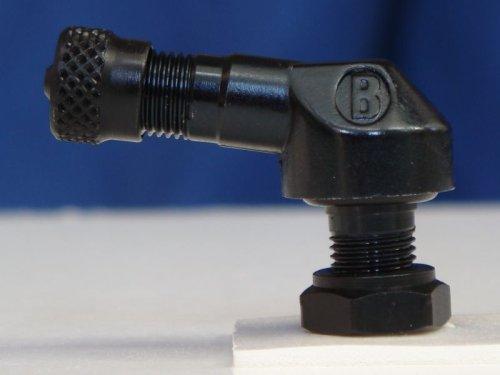 83deg Aluminum 8.3mm Racing Angled Valve Stem - Black - 2 Pack