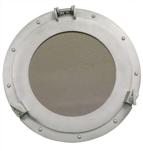 RedSkyTrader 15 Aluminum Porthole Mirror – Nautical Ship Decor