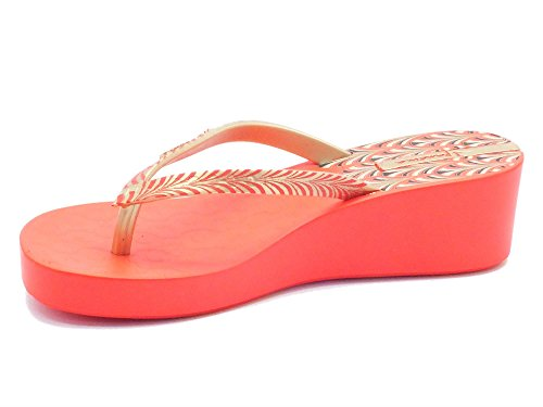 Ipanema 81466 Art Deco Fem Red/Gold - Sandalias de goma para mujer Rojo rojo Red/Gold