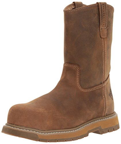 Muck Boot Men's Wellie Classic Comp Toe Work Boot, Brown, 10 M US by Muck Boot
