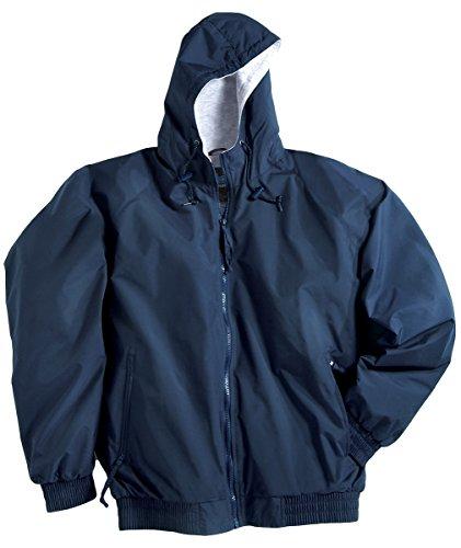 Tri-Mountain 3600 Men's Bay Watch Water Resistant Hooded Jacket Navy 6XLT