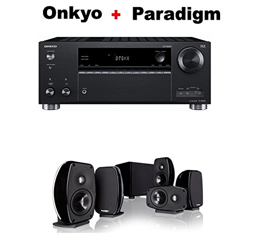 Onkyo-Rz-Series-Audio-Video-Component-Receiver-Black-TX-RZ620-Paradigm-Cinema-100-CT-51-Home-Theater-System-Bundle